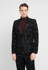 Twisted Tailor - KATRIN SUIT FLORAL FLOCK - Completo - charcoal - 2