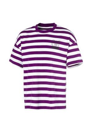 BRETON  - T-shirt imprimé - grape juice-white