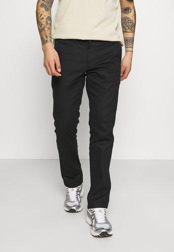 SHERBURN - Kalhoty - black