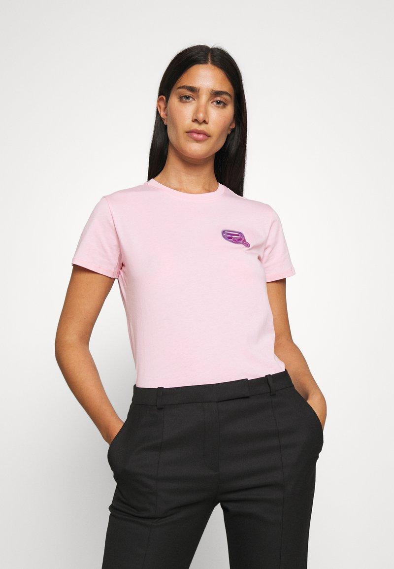 KARL LAGERFELD - MINI IKONIK BALLOON TEE - Print T-shirt - pink