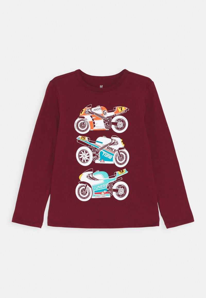 GAP - BOY GRAPHICS - Bluzka z długim rękawem - red delicious