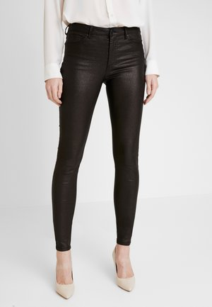 AIDA-PA-TWILL SHINE - Trousers - black