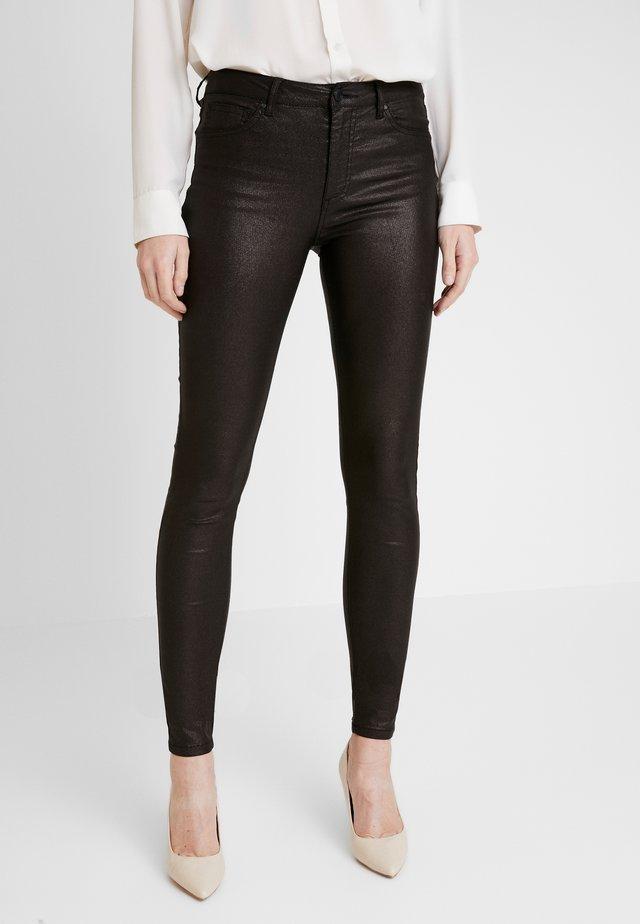 AIDA-PA-TWILL SHINE - Trousers - black