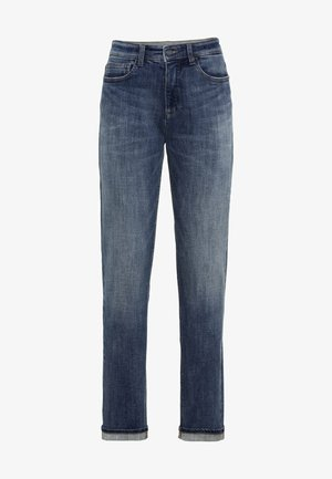 LOOSE FIT JEANS - Relaxed fit jeans - mid blue used tint