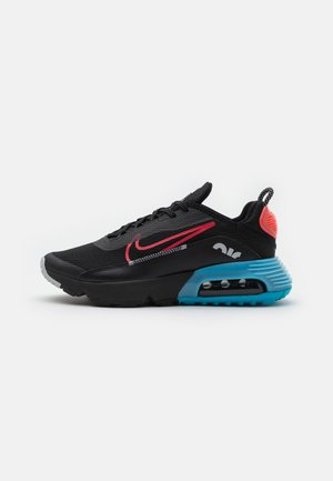 AIR MAX2090 UNISEX - Tenisky - black/fusion red/light blue fury/grey fog