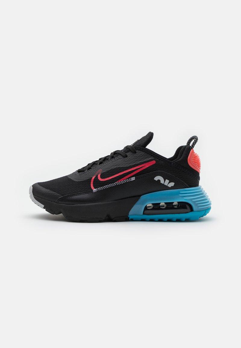 Nike Sportswear - AIR MAX2090 UNISEX - Tenisky - black/fusion red/light blue fury/grey fog