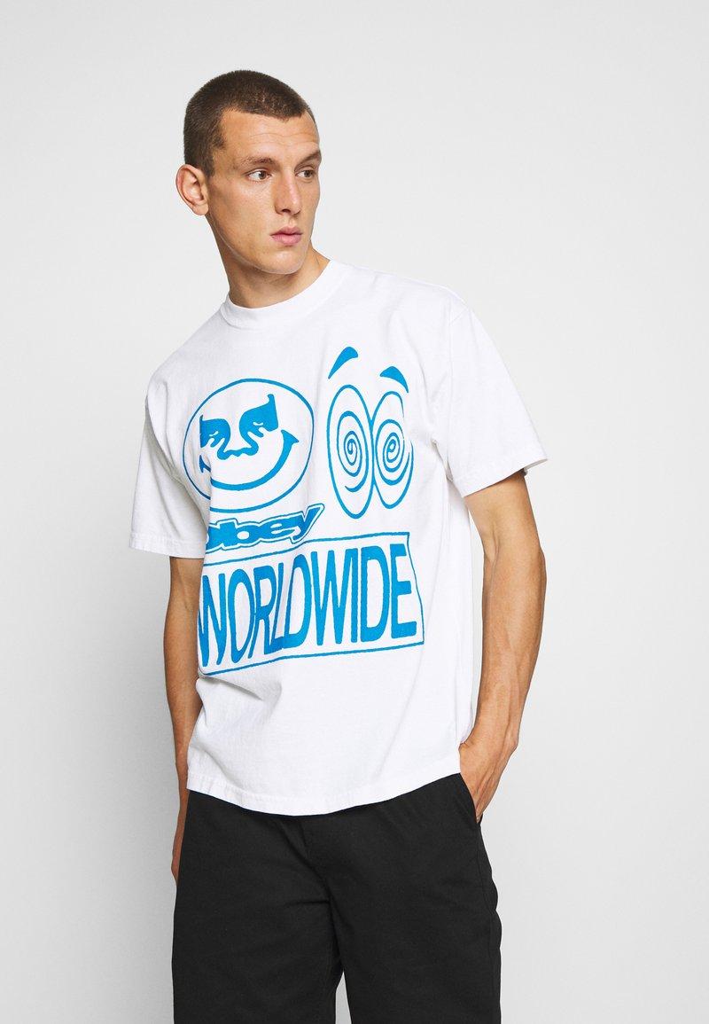 Obey Clothing - ACID CRASH - Print T-shirt - white