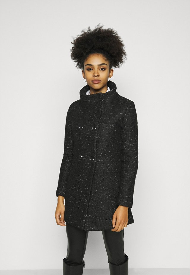 ONLNEWSOPHIA COAT - Abrigo corto - black/melange