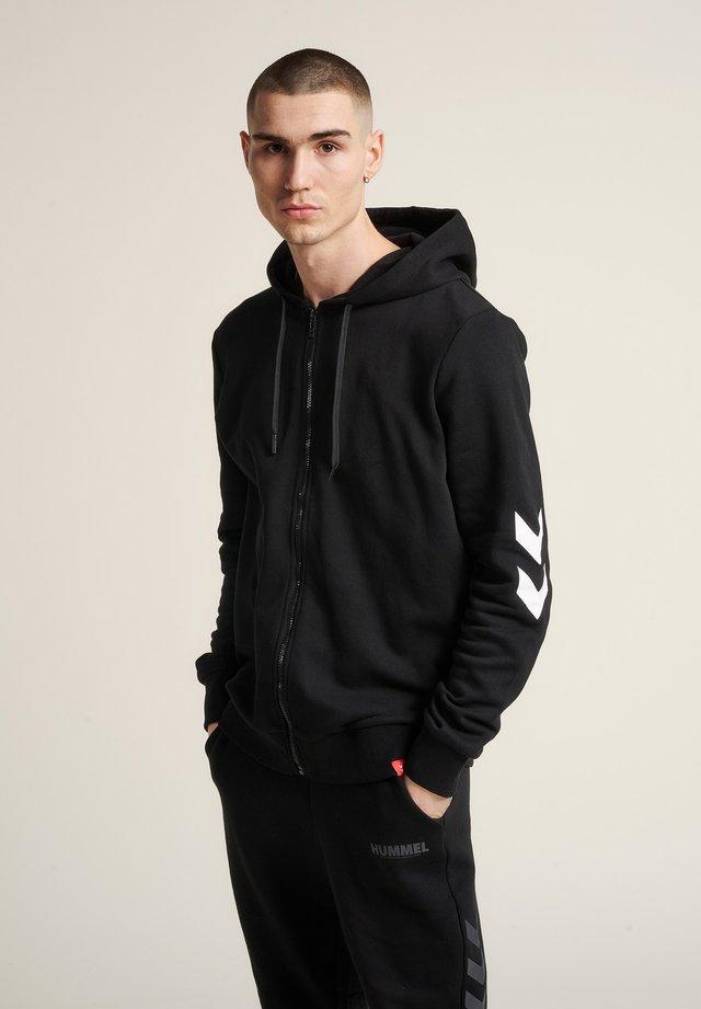 HMLLEGACY ZIP HOODIE - Zip-up hoodie - black