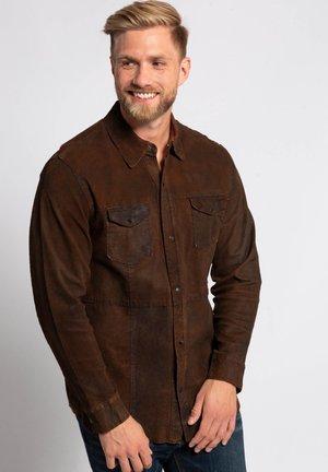 Leather jacket - braun