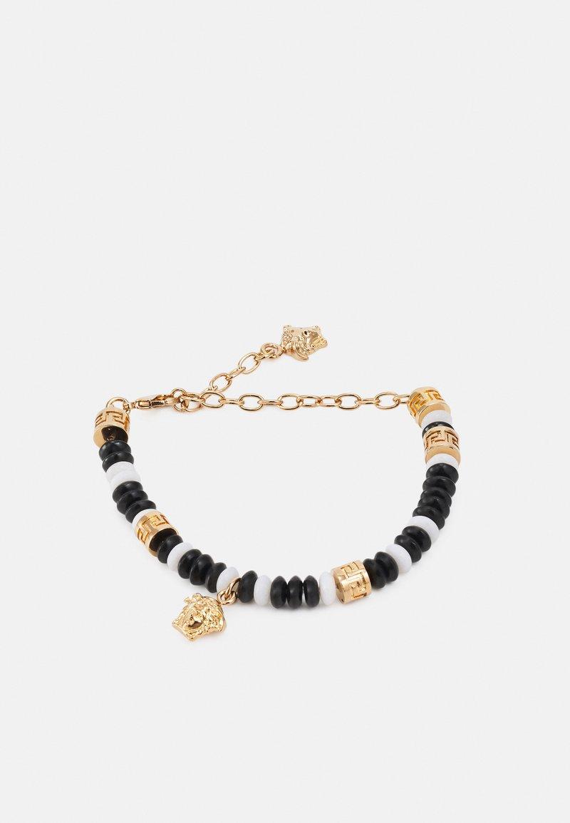Versace - BRACELET BEADED MEDUSA - Bracelet - bianco/nero/gold-coloured