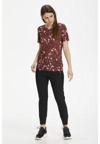 InWear - Basic T-shirt - russet brown asian floral - 1