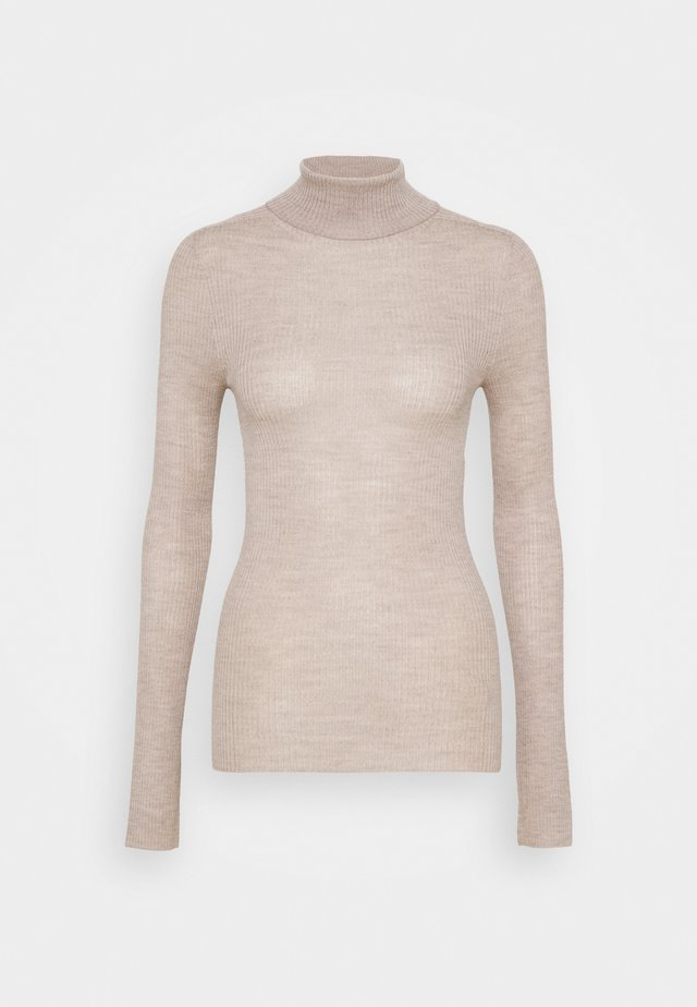 SEAMLESS - Svetr - light brown melange