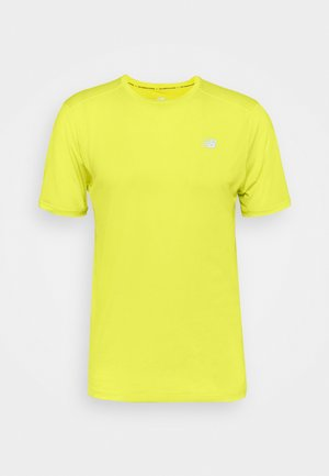 IMPACT RUN SHORT SLEEVE - Triko spotiskem - sulphur yellow