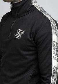SIKSILK - QUARTER ZIP RUNNER TOP - Bluzka z długim rękawem - black - 4
