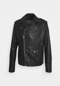 SAIKAT BIKER JACKET - Leather jacket - black