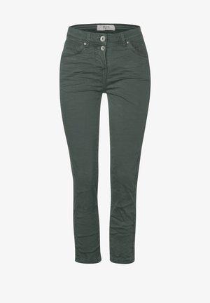 SLIM FIT CRASH-HOSE - Slim fit jeans - grün