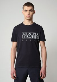 Napapijri - SALLAR LOGO - T-shirt med print - blu marine - 0