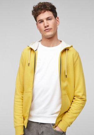 KUSCHELIGER - Hoodie met rits - yellow