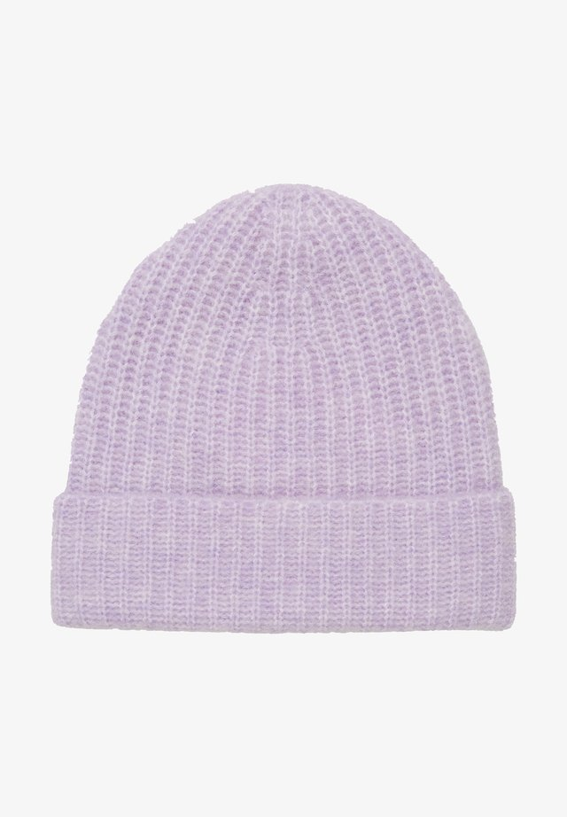 Beanie - multi/peached purple