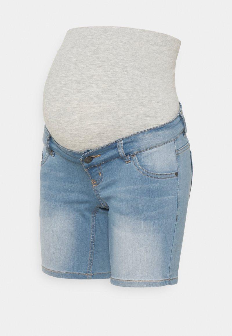 MAMALICIOUS - MLFIFTY - Denim shorts - light blue denim