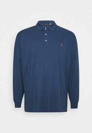 LONG SLEEVE - Polo shirt - derby blue heather