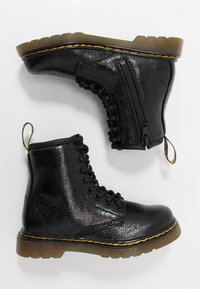 Dr. Martens - 1460 J  Crinkle Metallic - Lace-up ankle boots - black metallic - 0