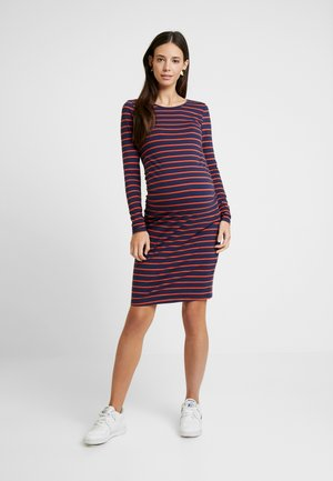 Shift dress - dark blue/orange
