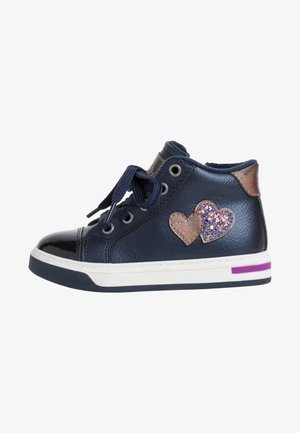 Lace-up ankle boots - navy comb.