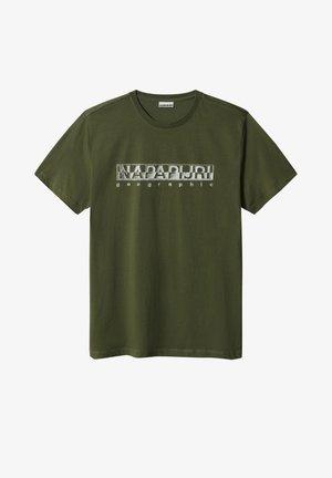 SALLAR - Print T-shirt - green cypress