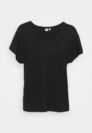 SCOOPNECK - Print T-shirt - true black