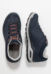 Lowa - LOCARNO GTX LO  - Hiking shoes - navy/mandarine - 1