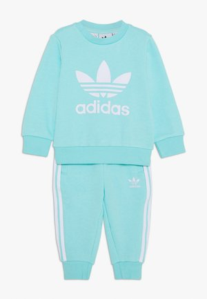 CREW SET - Sweatshirt - clear aqua/white