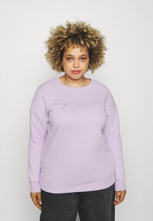 EBROIDERED CREW - Sweatshirt - lilac