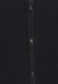 Good American - ZIP FRONT MIDI DRESS - Robe fourreau - black - 2