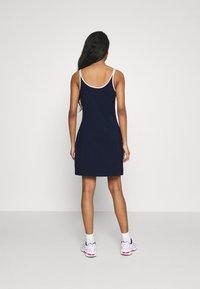 Fila - HOPE SPAGHETTI STRAP DRESS - Jersey dress - black iris - 2
