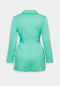 Missguided - BELTED TUX PLAYSUIT - Combinaison - green - 1