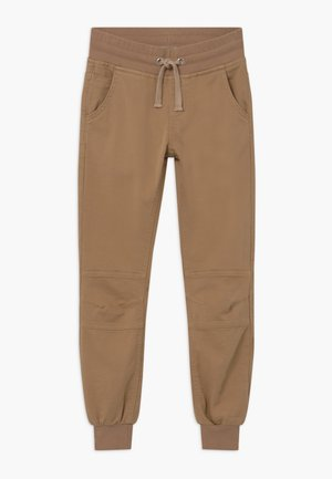 BOYS STREETWEAR - Tracksuit bottoms - beige reactive
