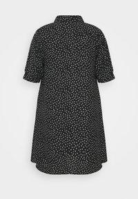 Glamorous Curve - MINI DRESS WITH COLLAR - Shirt dress - black - 7