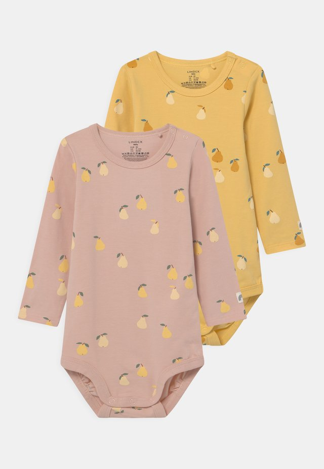 PEAR 2 PACK - Langærmede T-shirts - dusty pink/light dusty yellow