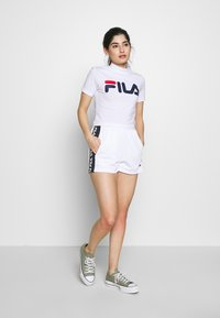 Fila Petite - TARIN HIGH WAIST PETITE - Shorts - bright white/black - 1