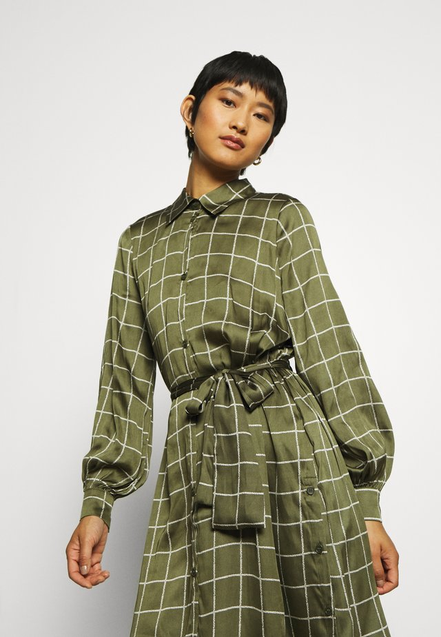 LISA DRESS - Abito a camicia - greyish green