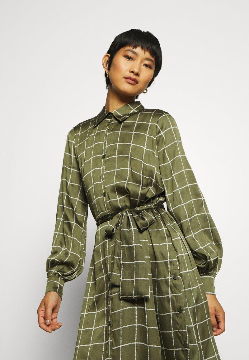 Twist & Tango - LISA DRESS - Košilové šaty - greyish green