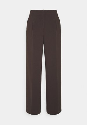 SLFTINNI WIDE PANT - Pantalones - coffee bean