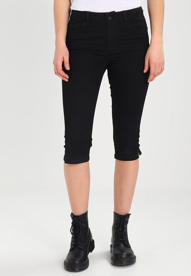 Vero Moda - VMHOT SEVEN SLIT KNICKER MIX - Denim shorts - black