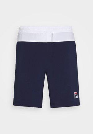 LASSE - Pantalón corto de deporte - peacoat blue/white