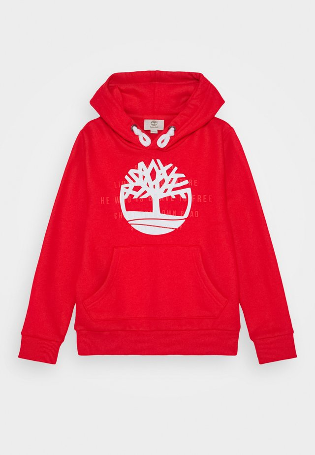 HOODED - Jersey con capucha - bright red