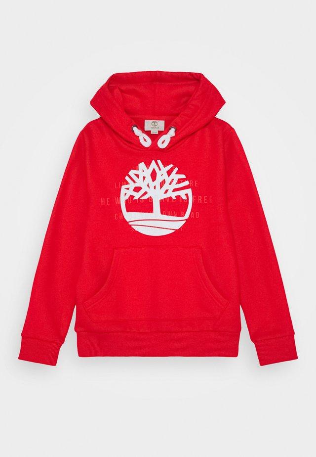 HOODED - Hoodie - bright red