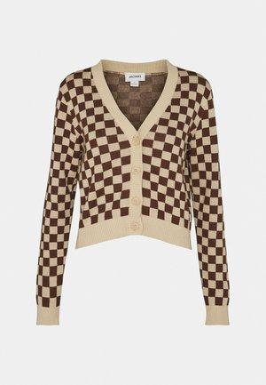 Cardigan - brown/beige