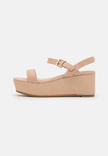 ELOINIEL - Sandály na platformě - bone